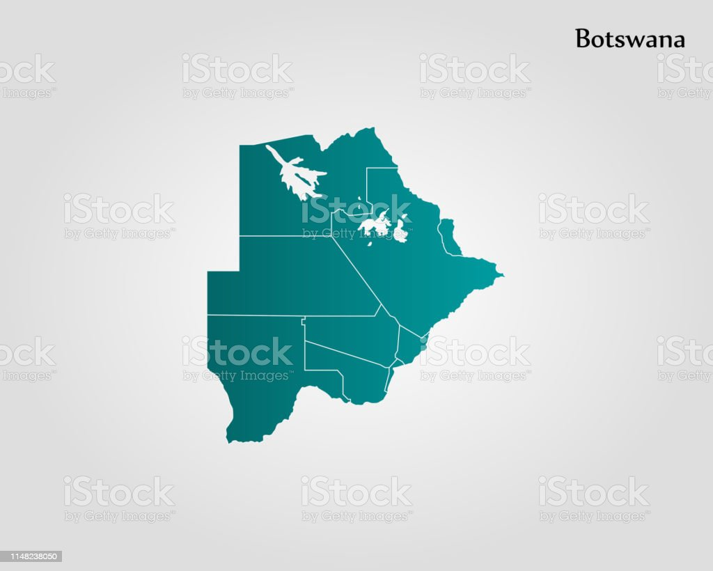 Picture of: Map Of Botswana Stock Illustration Download Image Now Istock