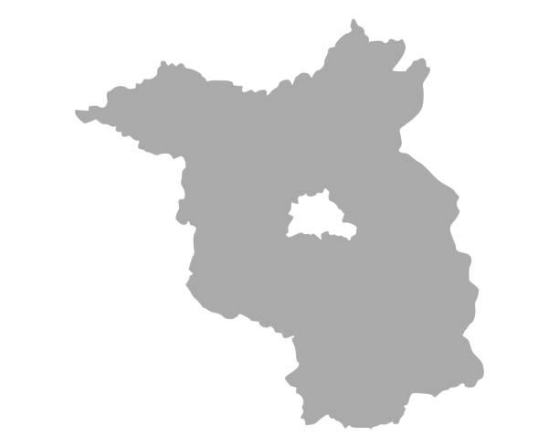 브란덴부르크의 지도 - 브란덴부르크 주 stock illustrations
