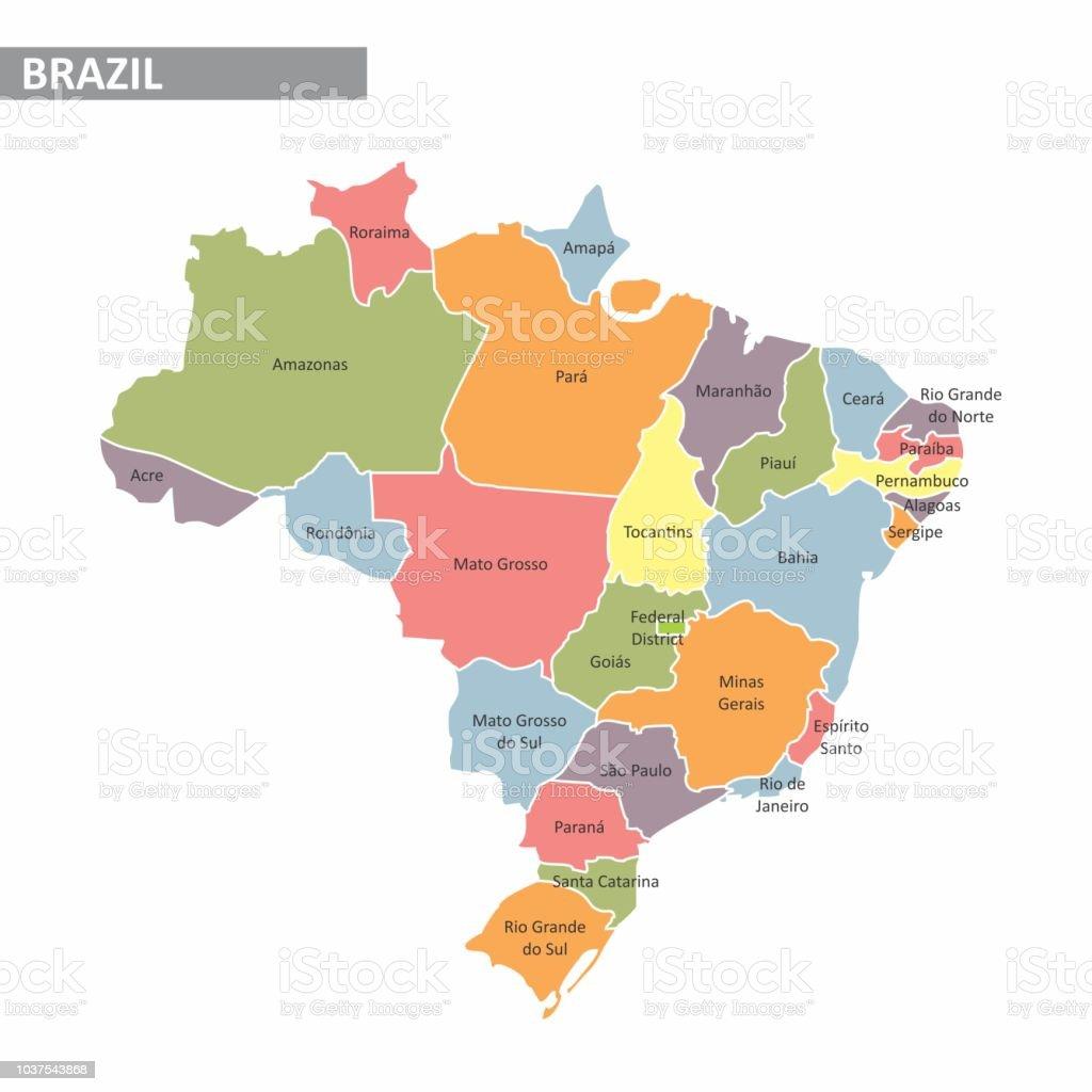 Mapa do Brasil - Vetor de As Américas royalty-free
