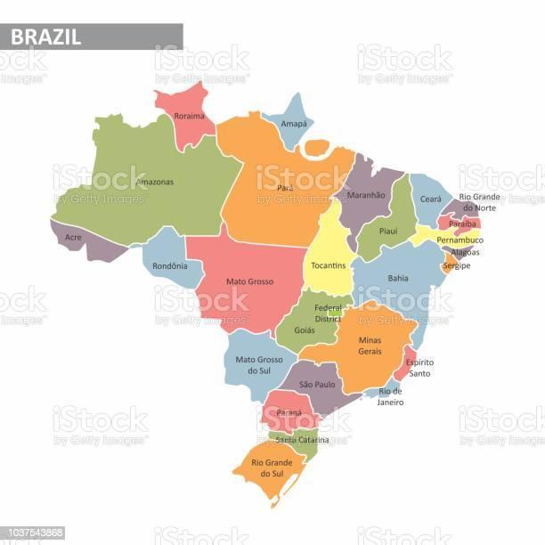 Vetores de Mapa Do Brasil e mais imagens de As Américas