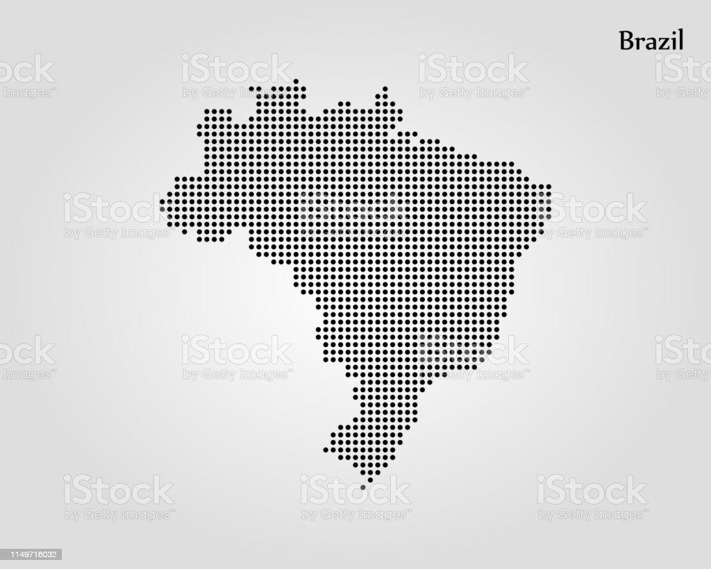 Mapa do Brasil - Vetor de Alfinetando royalty-free