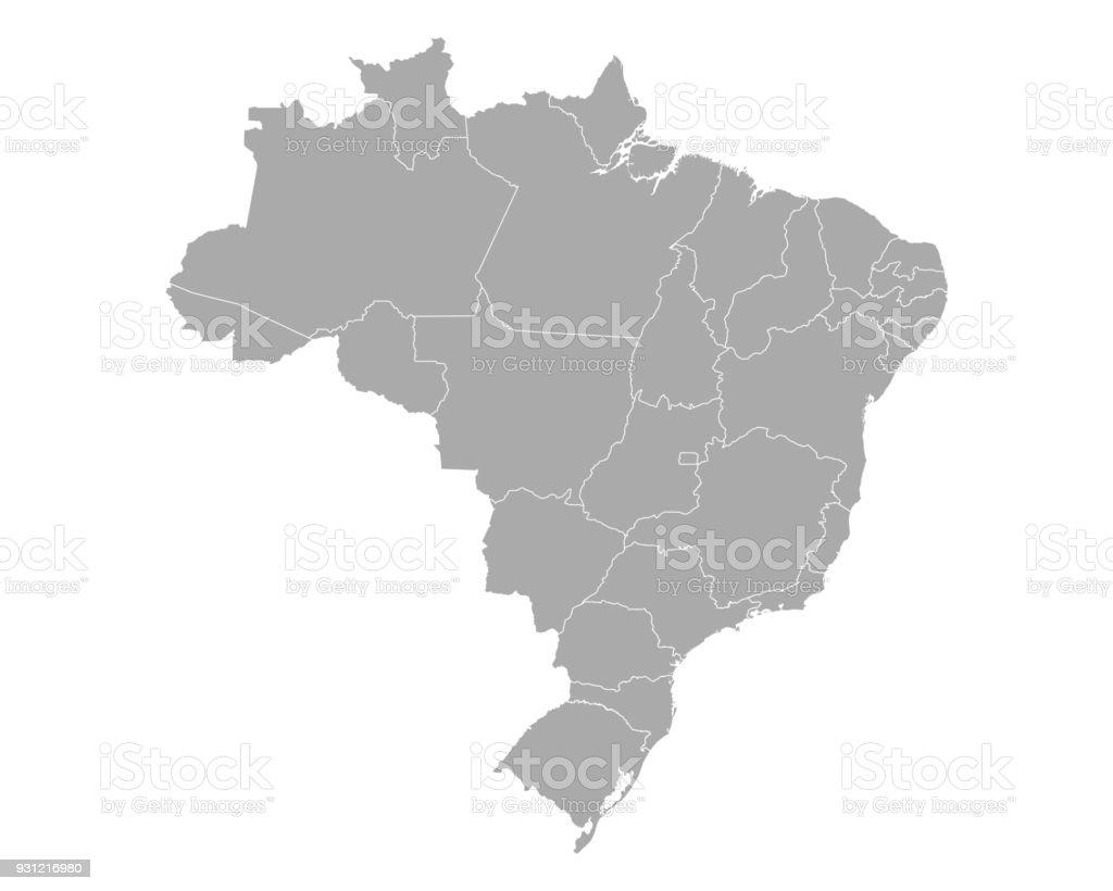 Mapa do Brasil - Vetor de Alemanha royalty-free