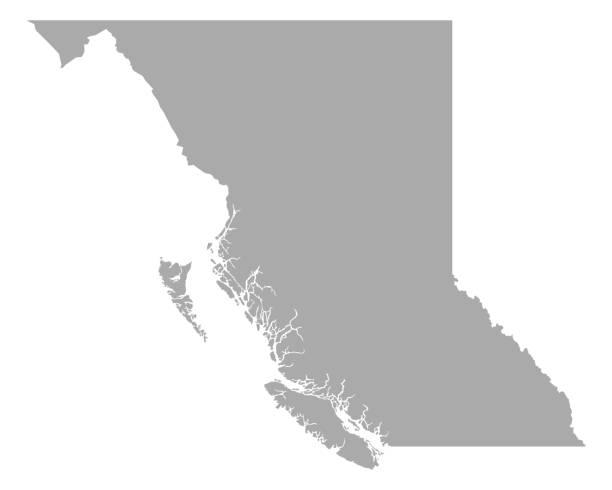 Map of British Columbia Map of British Columbia british columbia stock illustrations