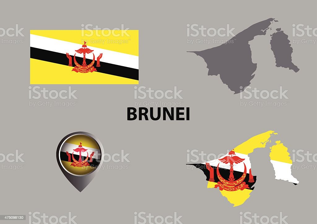 Map Of Brunei And Symbol Stock Vector Art More Images Of 2015