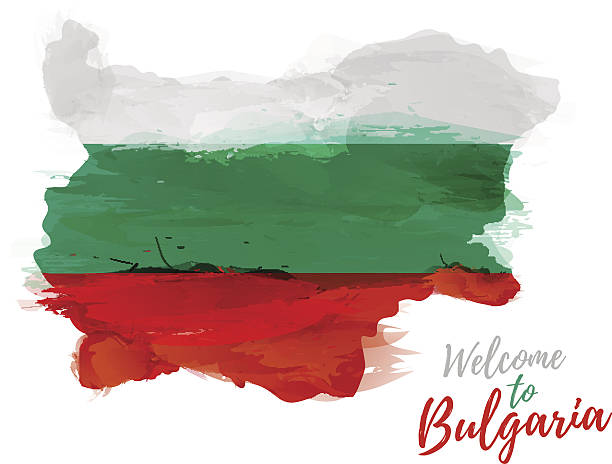 ilustraciones, imágenes clip art, dibujos animados e iconos de stock de map of bulgaria with the decoration of the national flag. - bulgaria