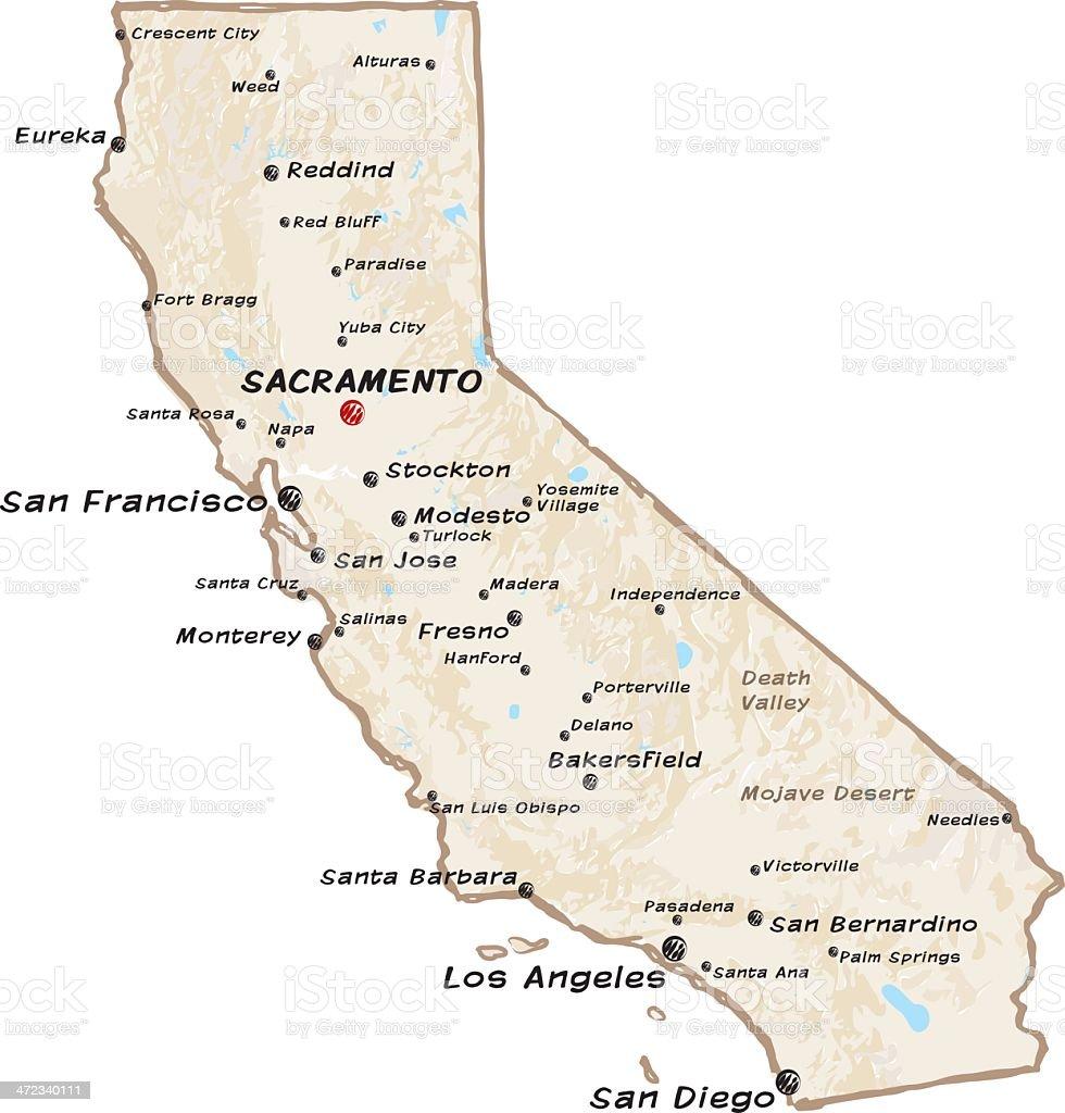 Map Of California Stock Vector Art More Images of California