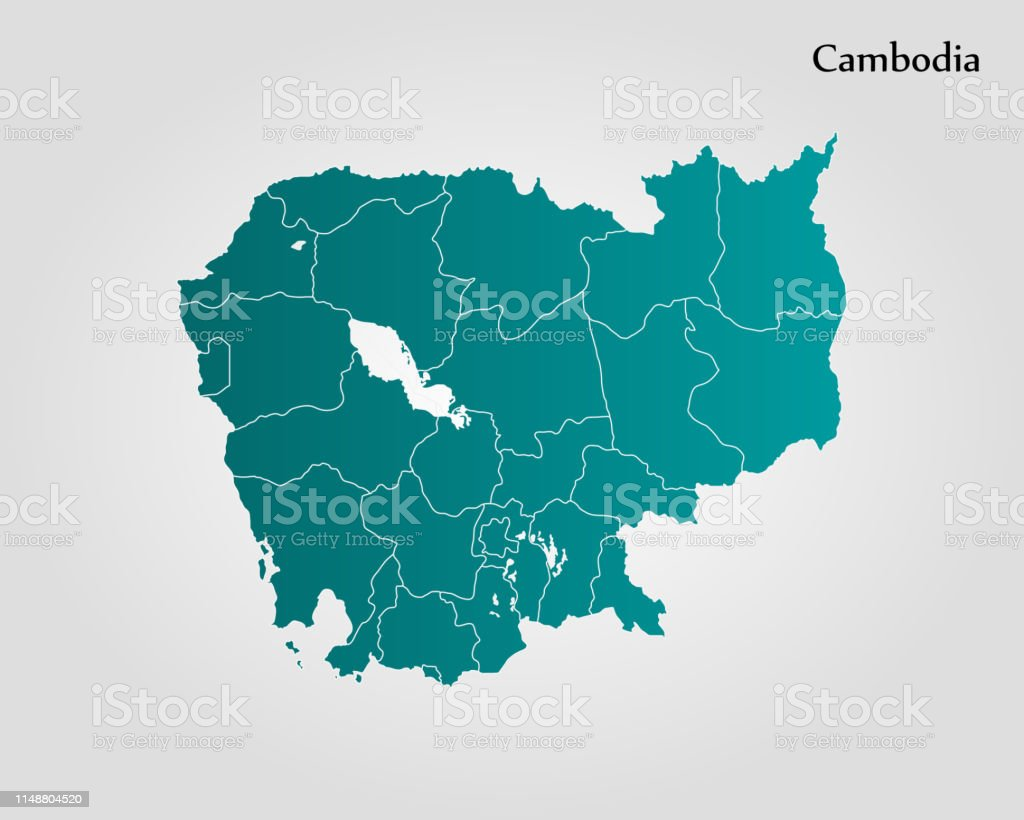 Map Of Cambodia Stock Illustration Download Image Now Istock