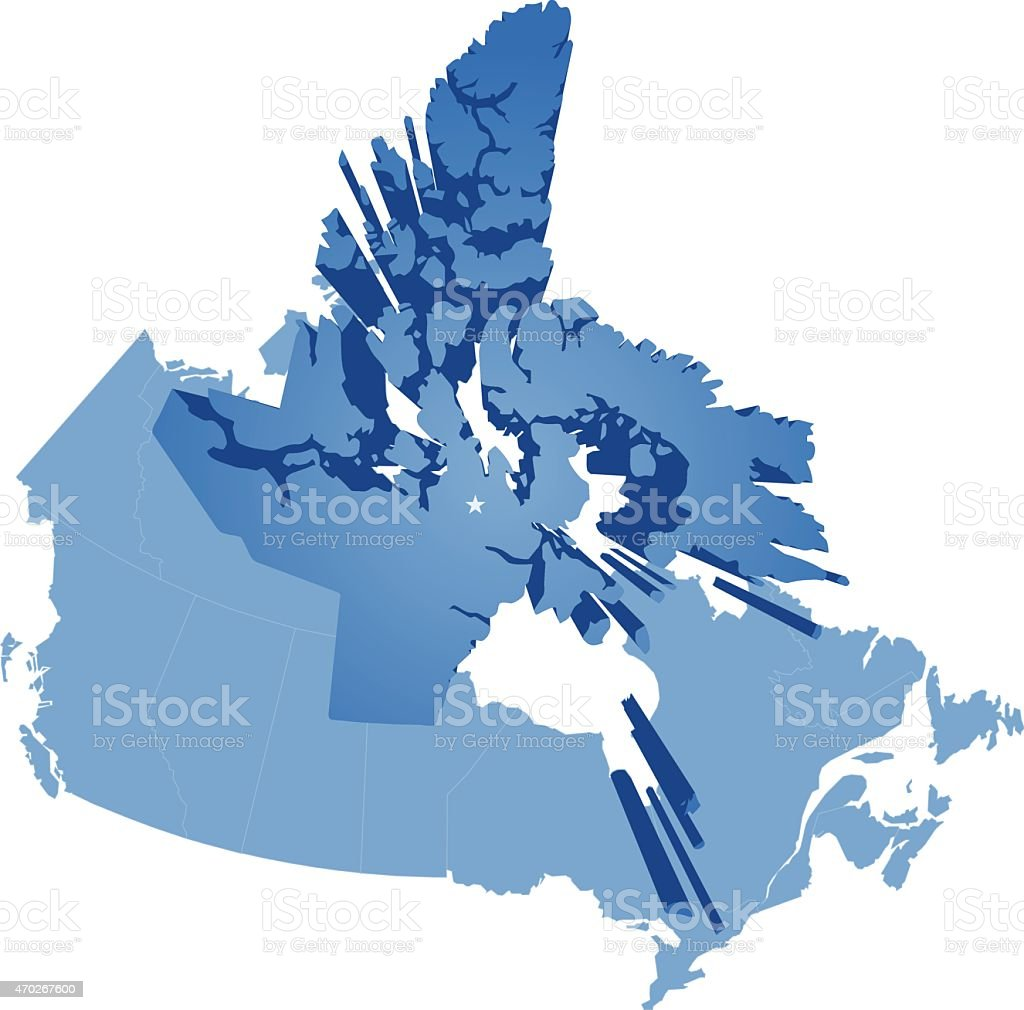 Map Of Canada Nunavut.Map Of Canada Nunavut Territory Stock Vector Art More Images Of 2015