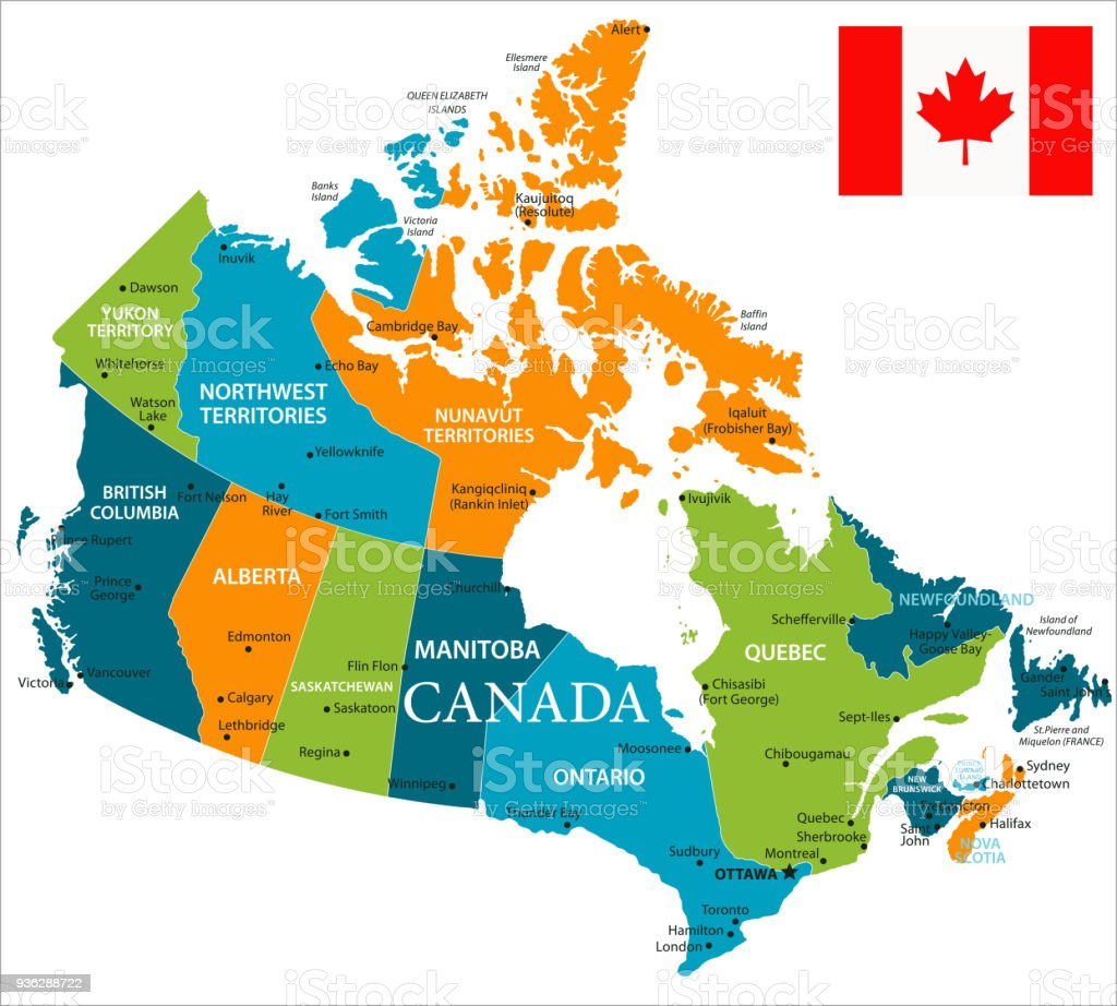 Map Of Canada Vector Stock Vector Art More Images of Alberta
