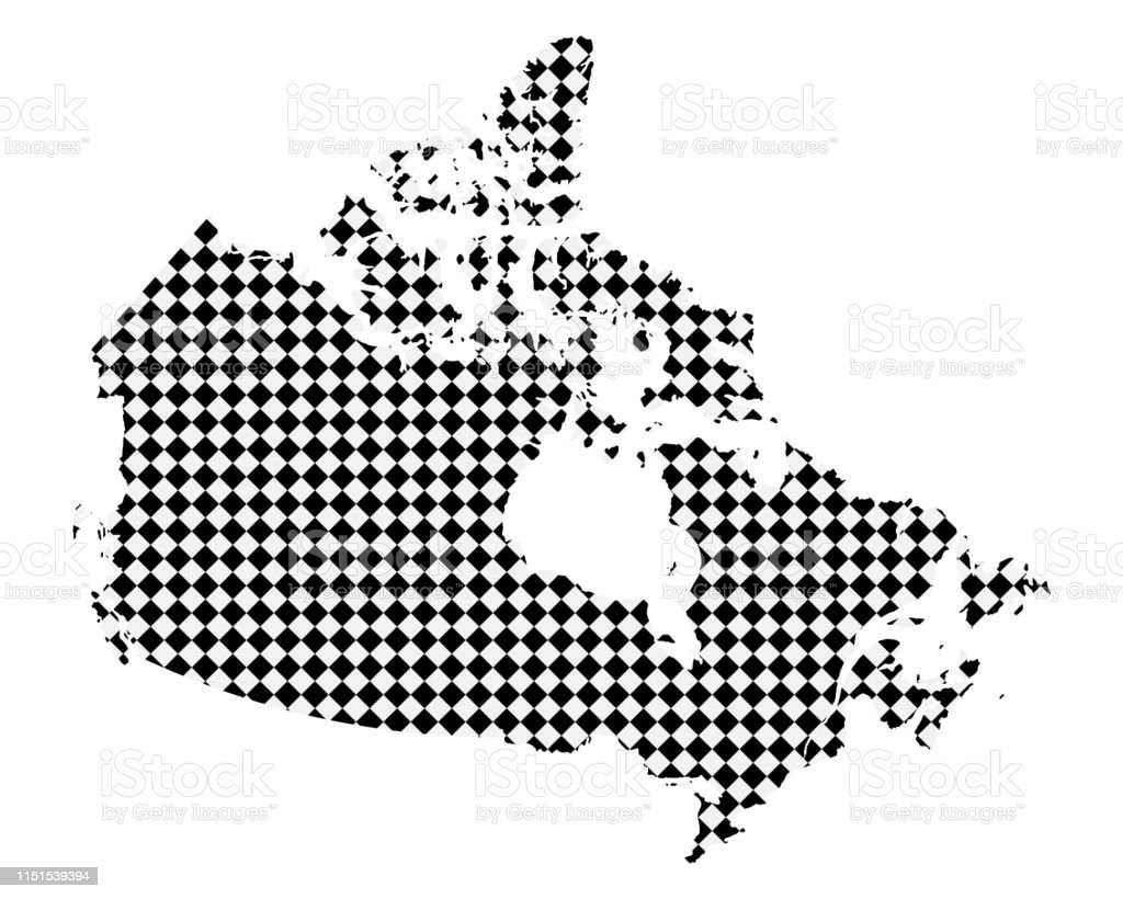 Small Map Of Canada.Map Of Canada With Small Rhombs Stock Illustration Download Image