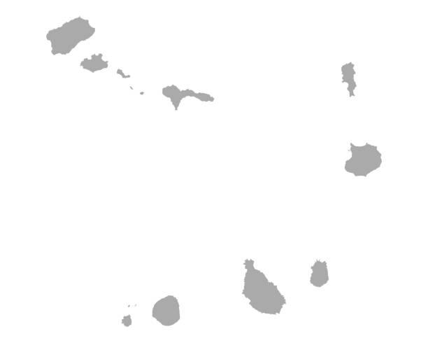 ilustrações de stock, clip art, desenhos animados e ícones de map of cape verde - cabo verde