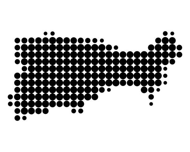 illustrazioni stock, clip art, cartoni animati e icone di tendenza di map of capri - capri