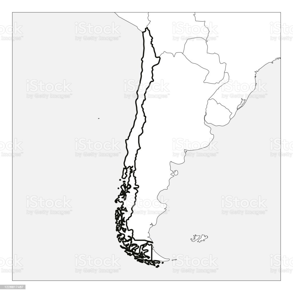 Map Of Central And South America Blank