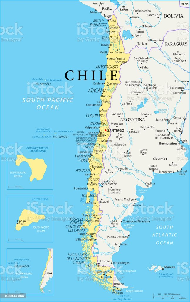 Map Chile Vector Stock Illustration Download Image Now