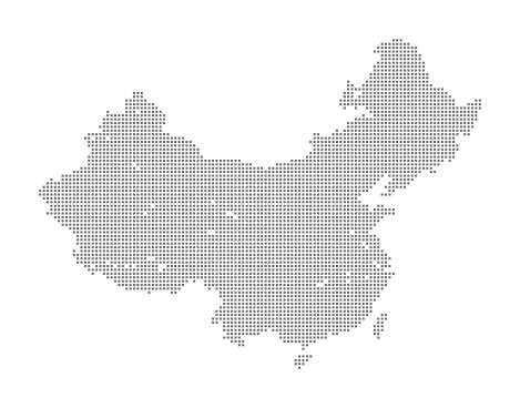 Map of China and Taiwan using Squares