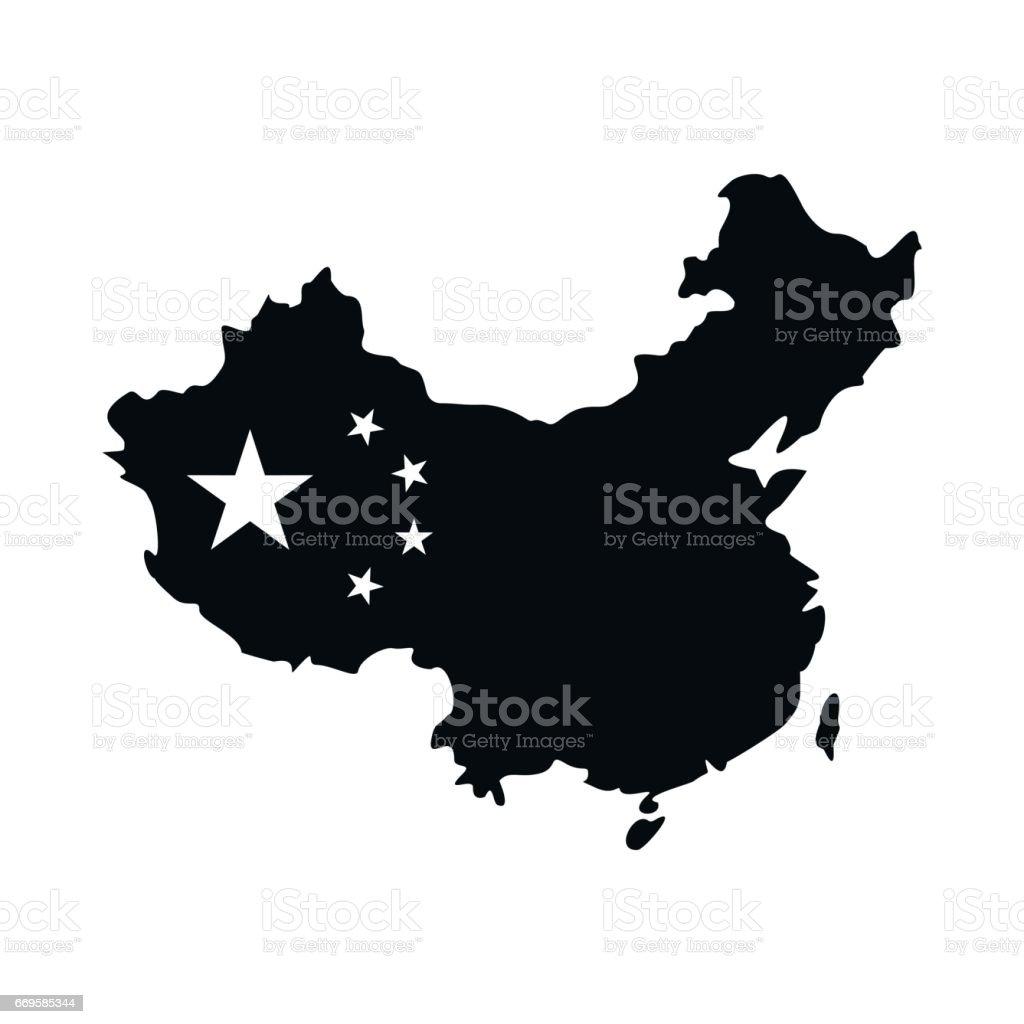 Carte Australie Chine.Carte De Licone De La Chine Dans Un Style Simple Cliparts