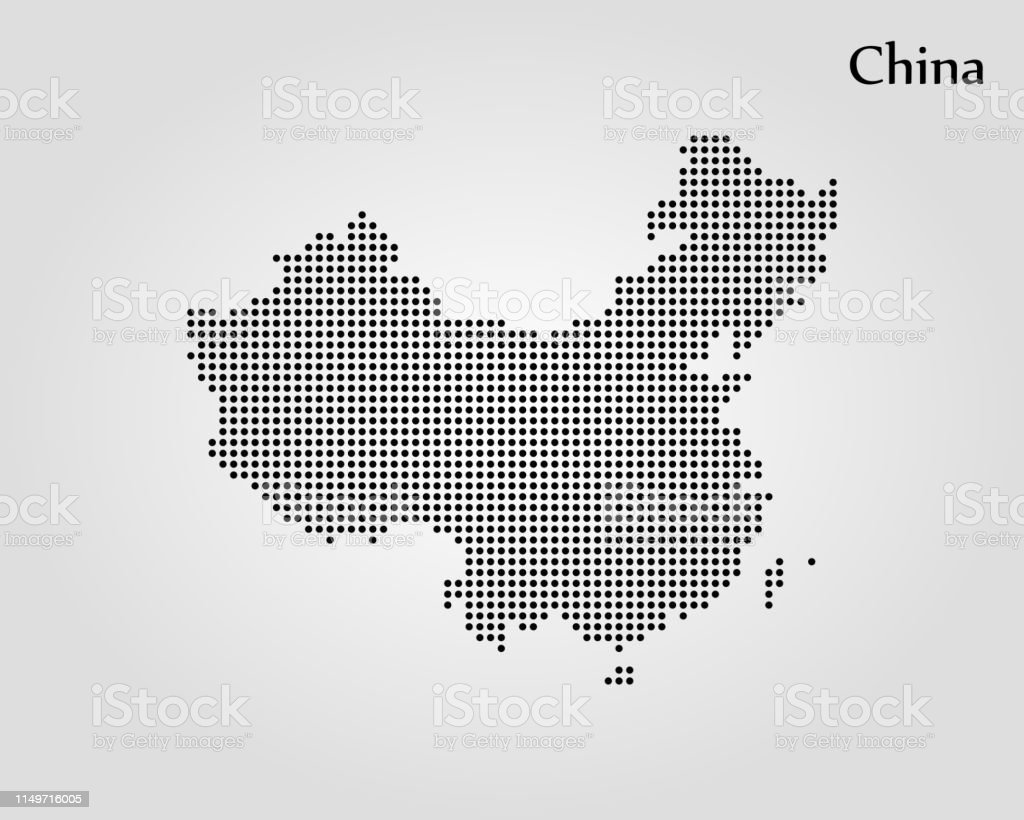 Map of China - Векторная графика Азия роялти-фри