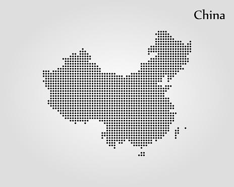 Map Of China — стоковая векторная графика и другие изображения на тему Азия