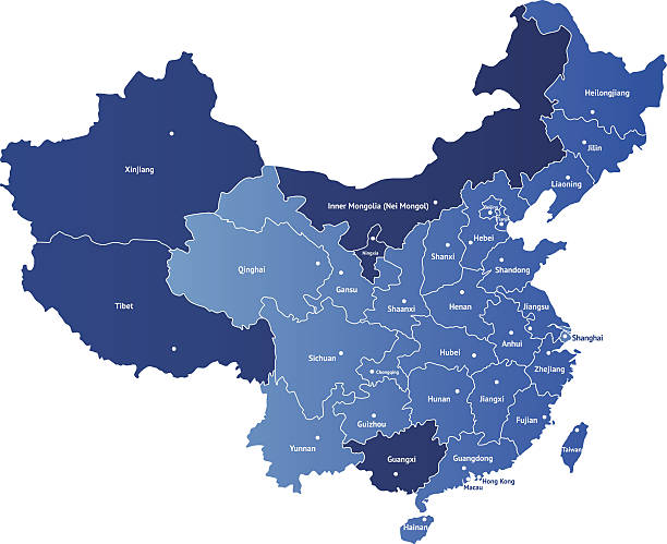 map of china - china map stock illustrations, clip art, cartoons, & icons
