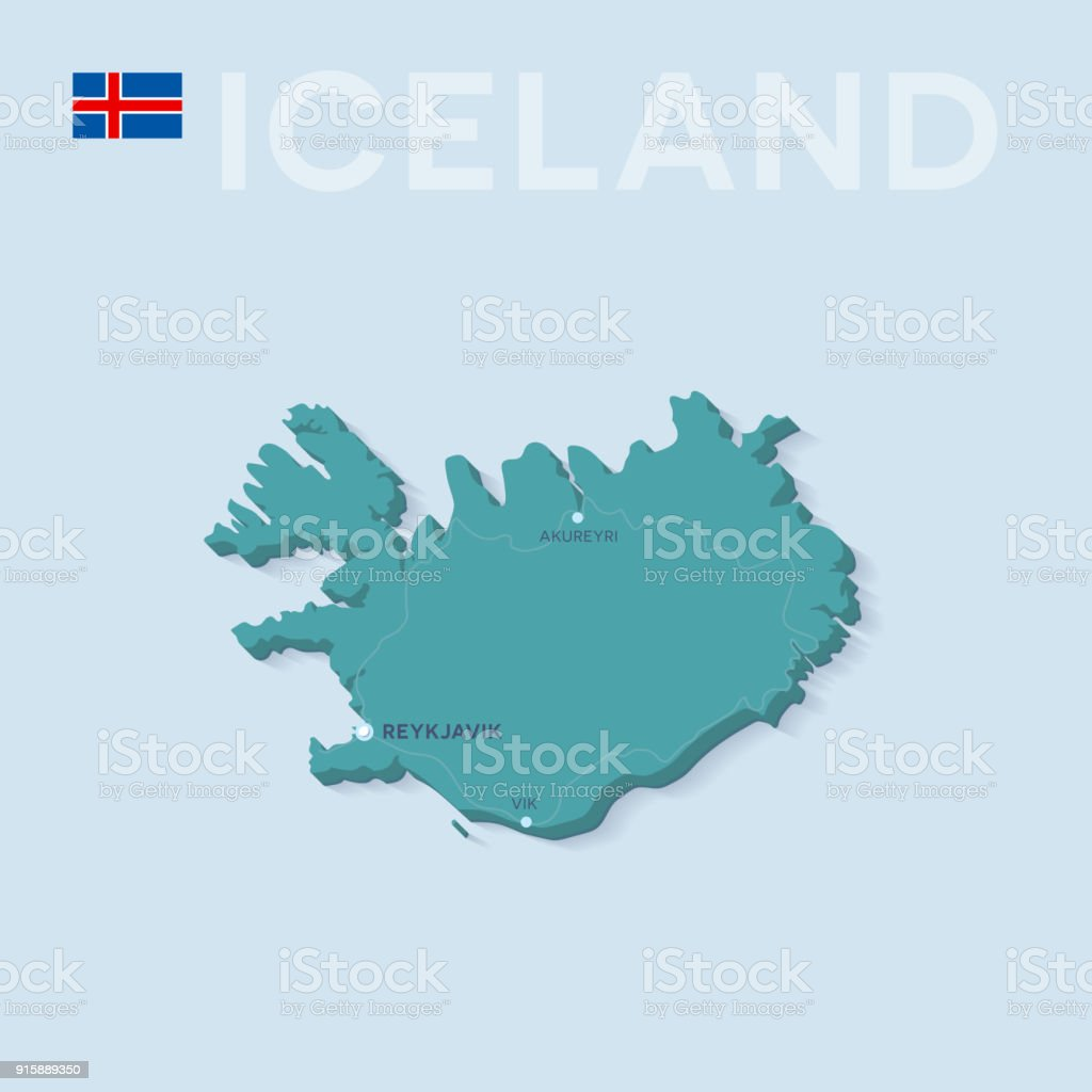 Map Of Cities And Roads In Iceland Stock Vector Art & More Images of ...
