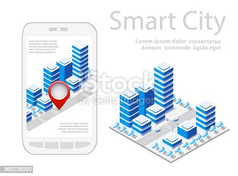 Map Of City On White Design Stock Vector Art & More Images of Architecture 965236000
