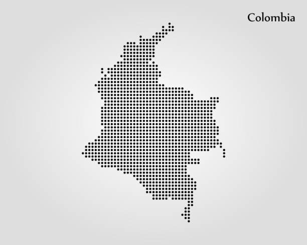 stockillustraties, clipart, cartoons en iconen met kaart van colombia - colombia land