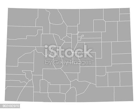 istock Map of Colorado 902492970