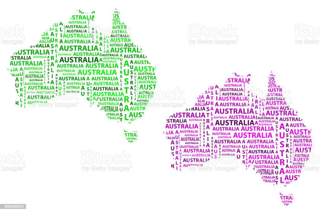 Map Of Continent Australia Vector Illustration Stock Vector Art ...