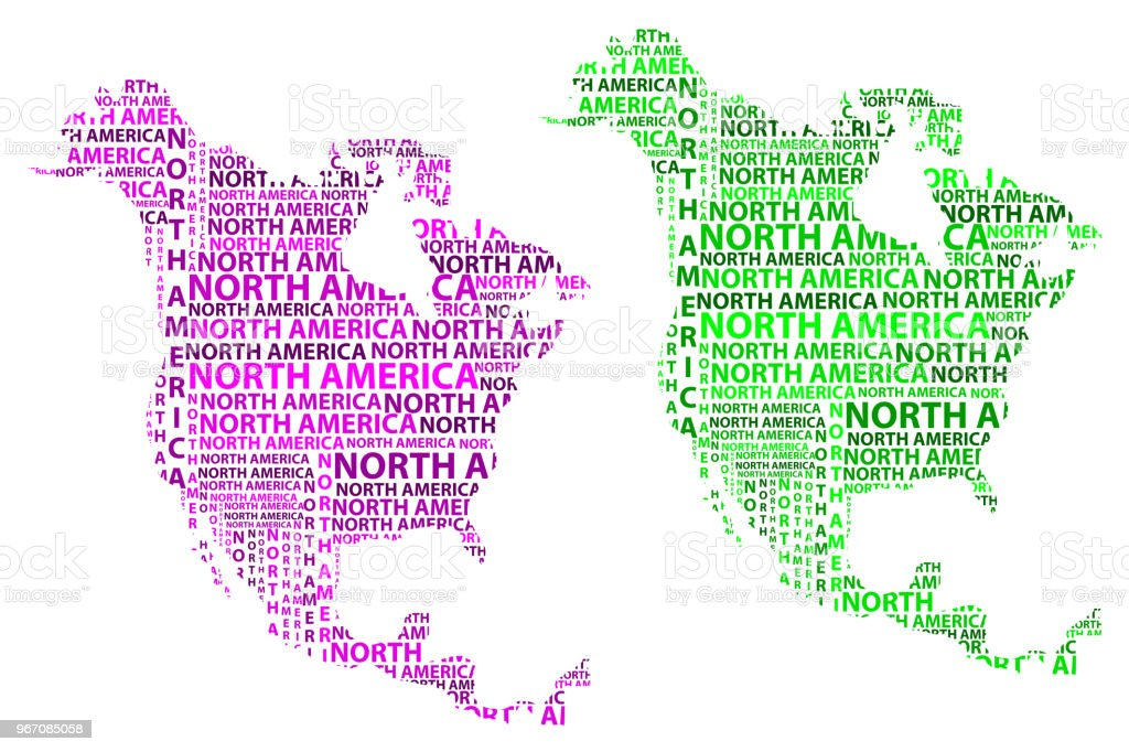 Map Of Continent North America Vector Illustration Stock ...