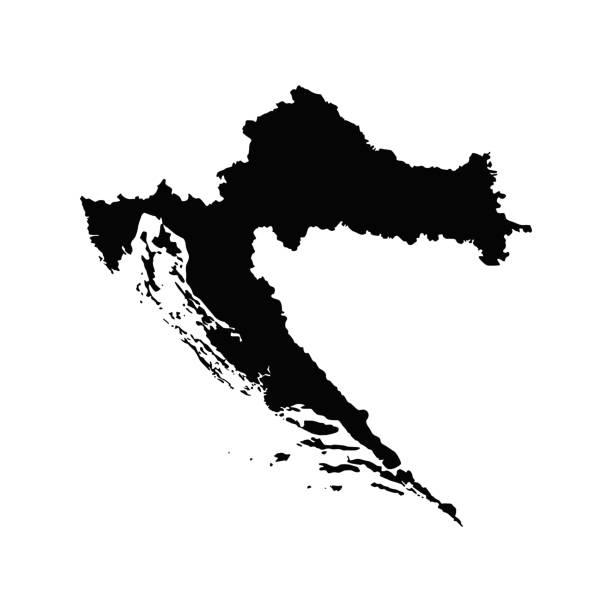 Map of Croatia Map of Croatia croatian culture stock illustrations