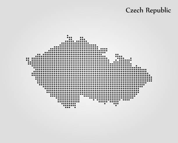 map of czech republic - republika czeska stock illustrations