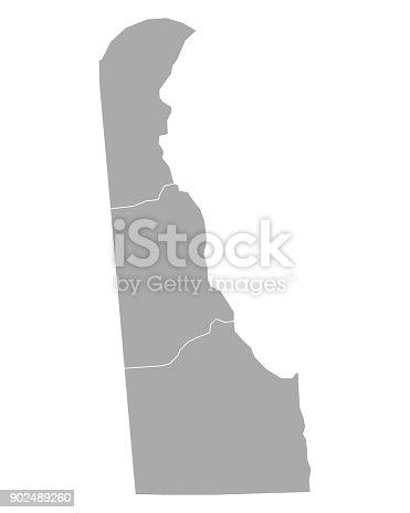 istock Map of Delaware 902489260