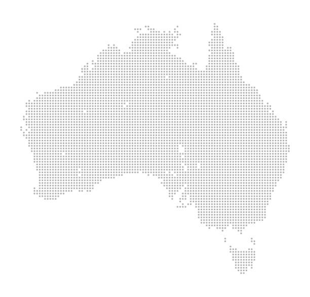 ilustraciones, imágenes clip art, dibujos animados e iconos de stock de mapa de puntos - de australia y tasmania - australia