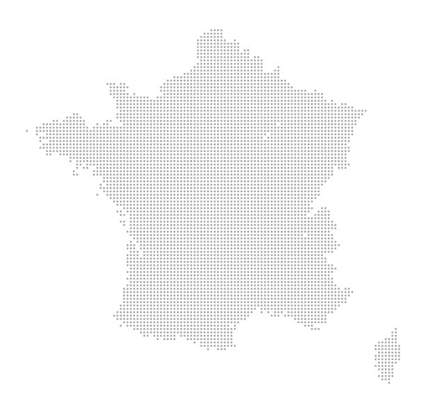 illustrations, cliparts, dessins animés et icônes de carte de points - france - carte de france