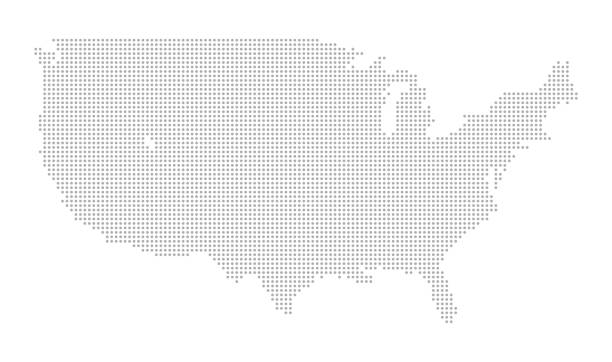 illustrazioni stock, clip art, cartoni animati e icone di tendenza di map of dots - north america - puntinismo