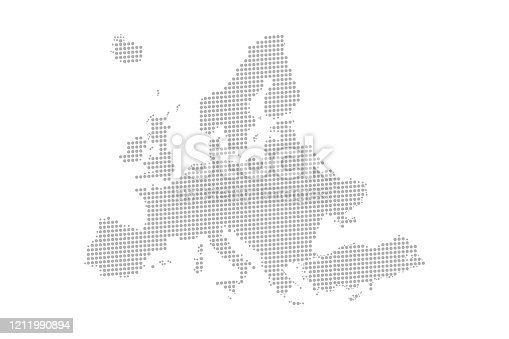 Map of Dotted Europe. Vector eps10.
