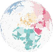 Map of Europe and Africa, Globe Vector illustration