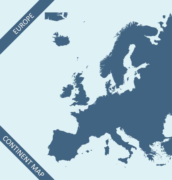 stockillustraties, clipart, cartoons en iconen met kaart van europa - netherlands map