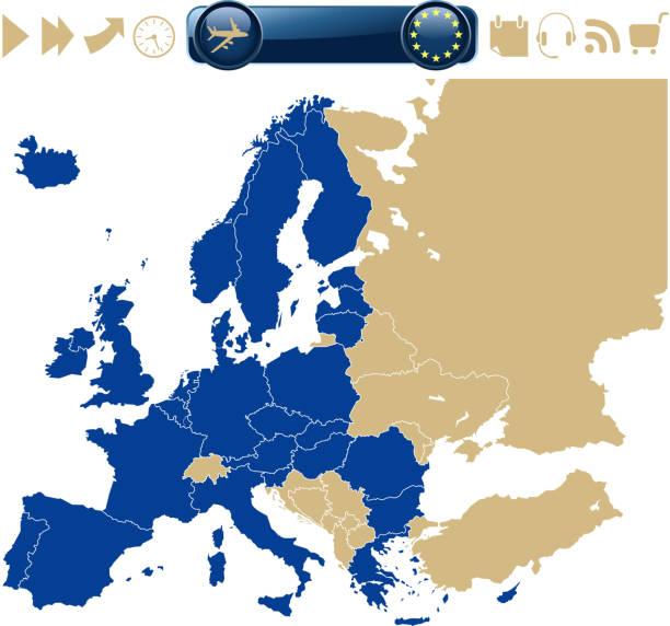 map of europe - ring binder stock illustrations