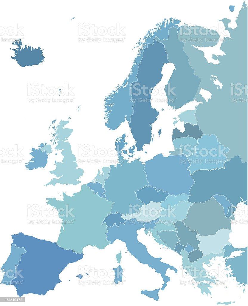 carte europe libre de droit