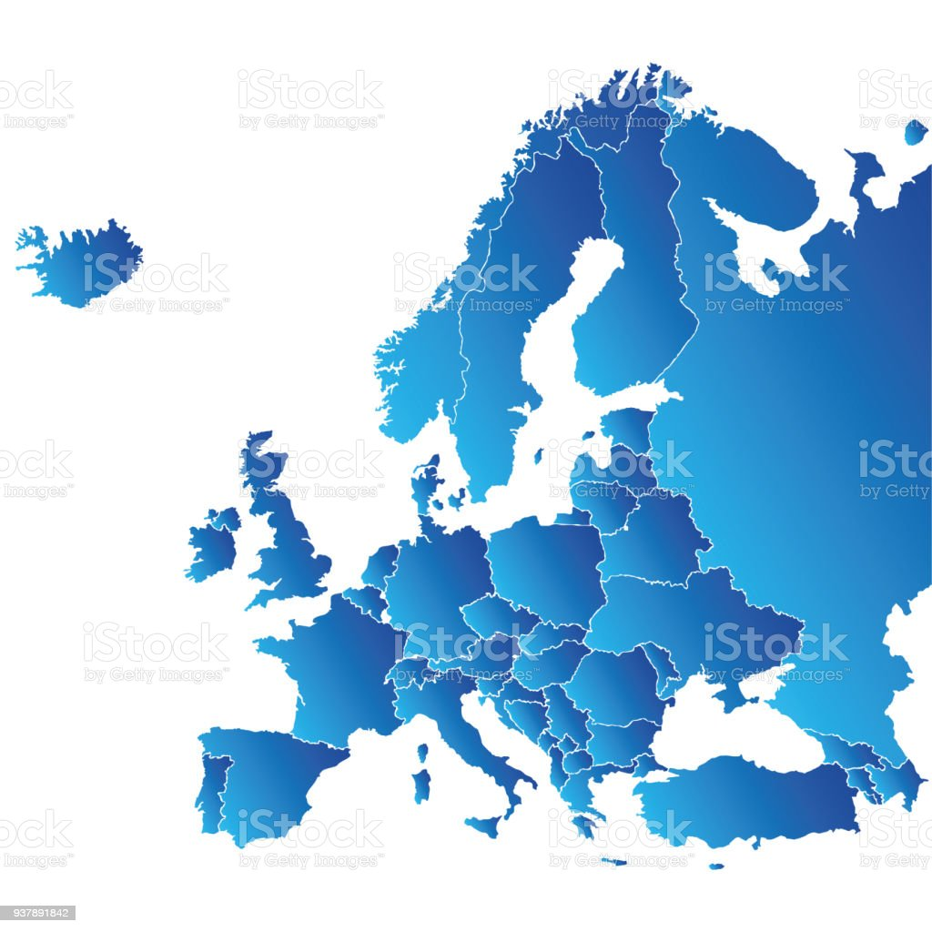 Map Of Europe Stock Vector Art More Images of Backgrounds