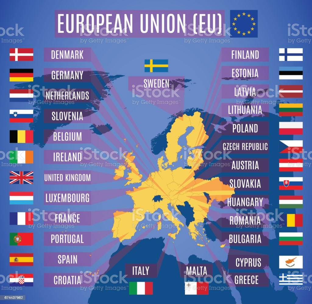 Map Of European Union With Britain European Union Participating