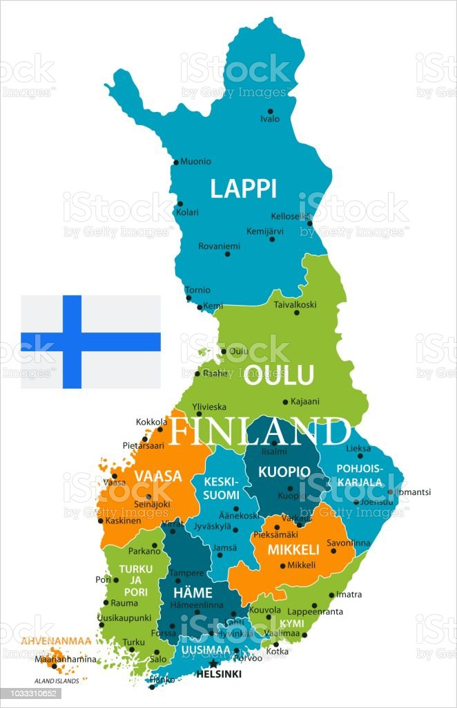 Helsinki World Map.Map Of Finland Vector Stock Vector Art More Images Of Blue