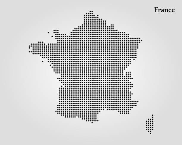 illustrations, cliparts, dessins animés et icônes de carte de la france - carte de france