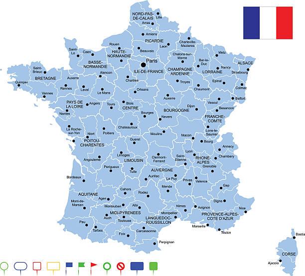 Carte de France - Illustration vectorielle