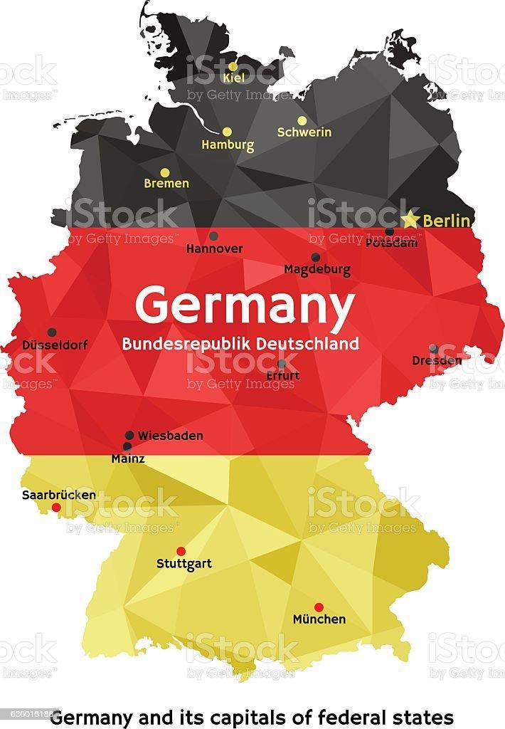 map of germany bundesrepublik deutschland ilustracin de map of germany bundesrepublik deutschland y ms banco
