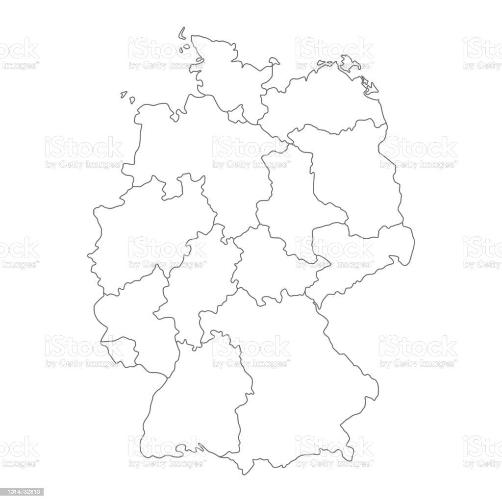 Leere deutschlandkarte