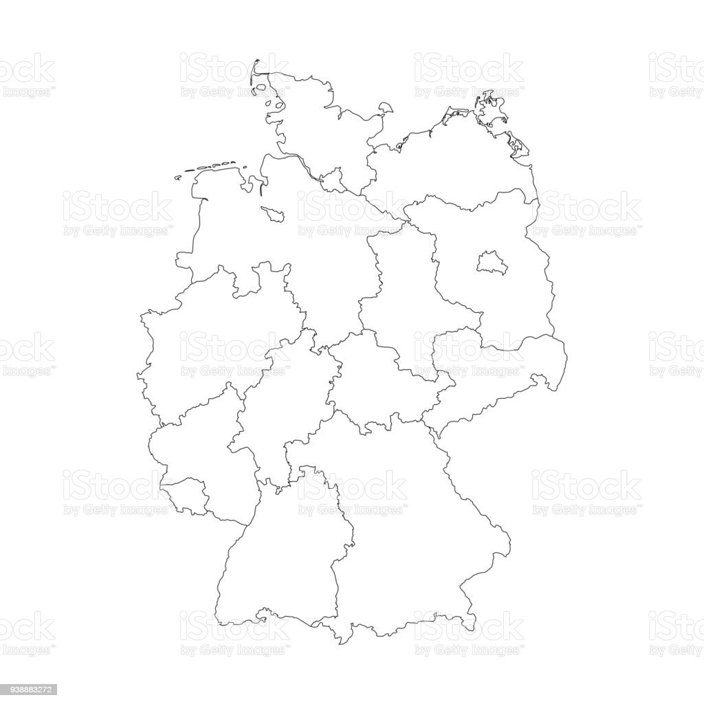 map of germany divided to federal states royalty free map of germany divided to federal