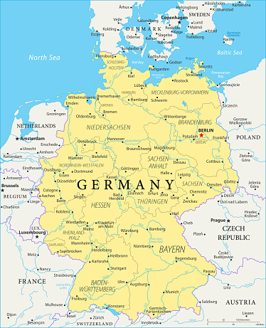 Map of Germany - Vector