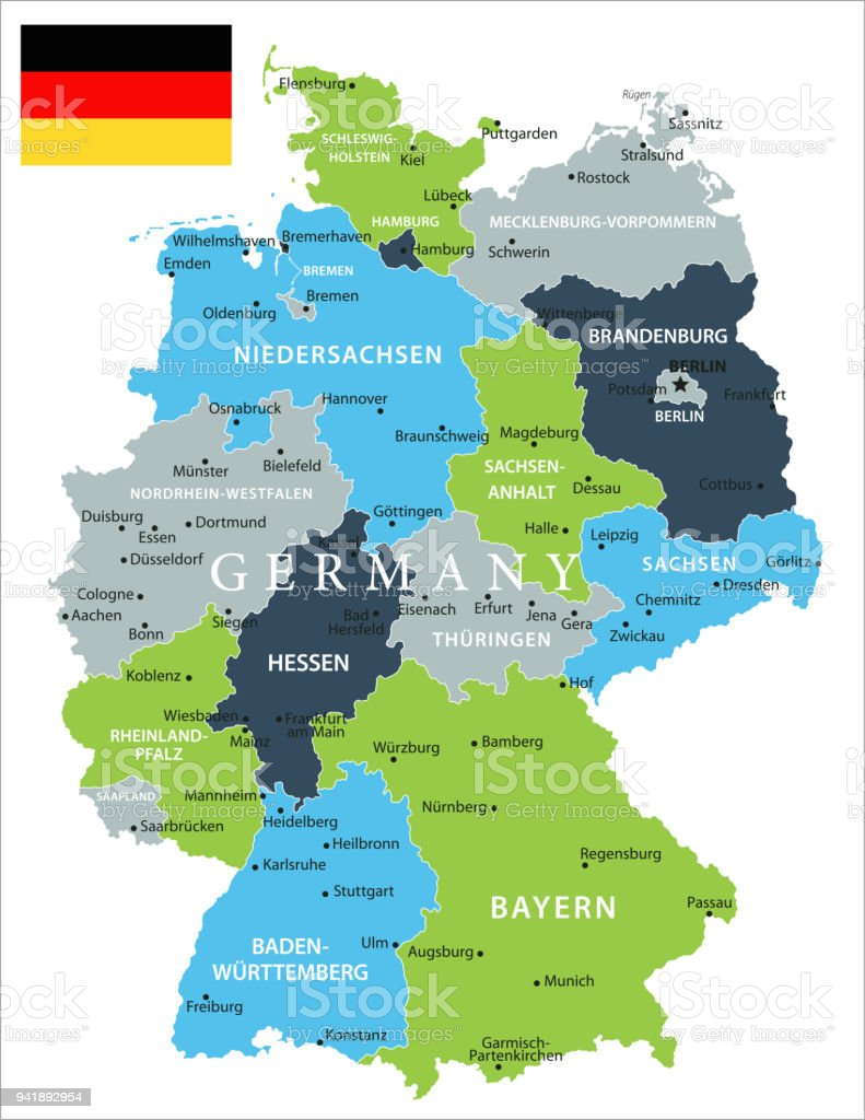 map of germany vector royalty free map of germany vector stock vector art amp
